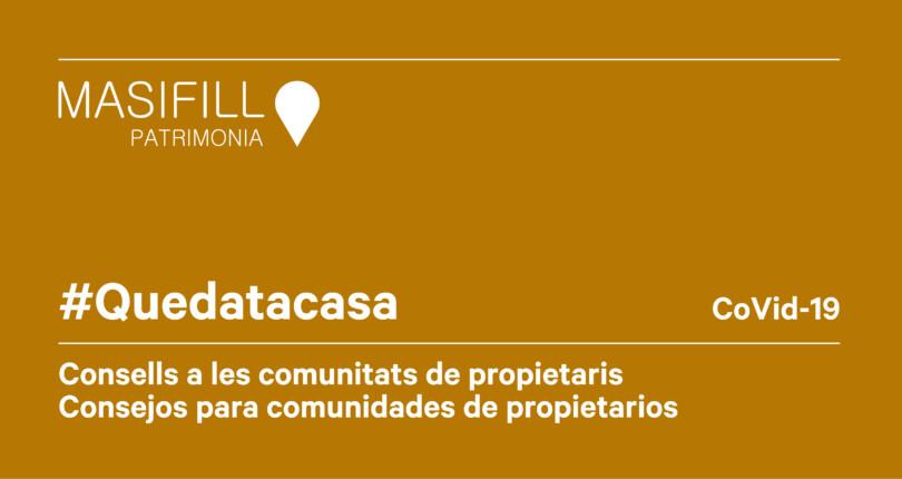 Consells a les comunitats de propietaris del col·legi d'administradors de finques de Barcelona-Lleida